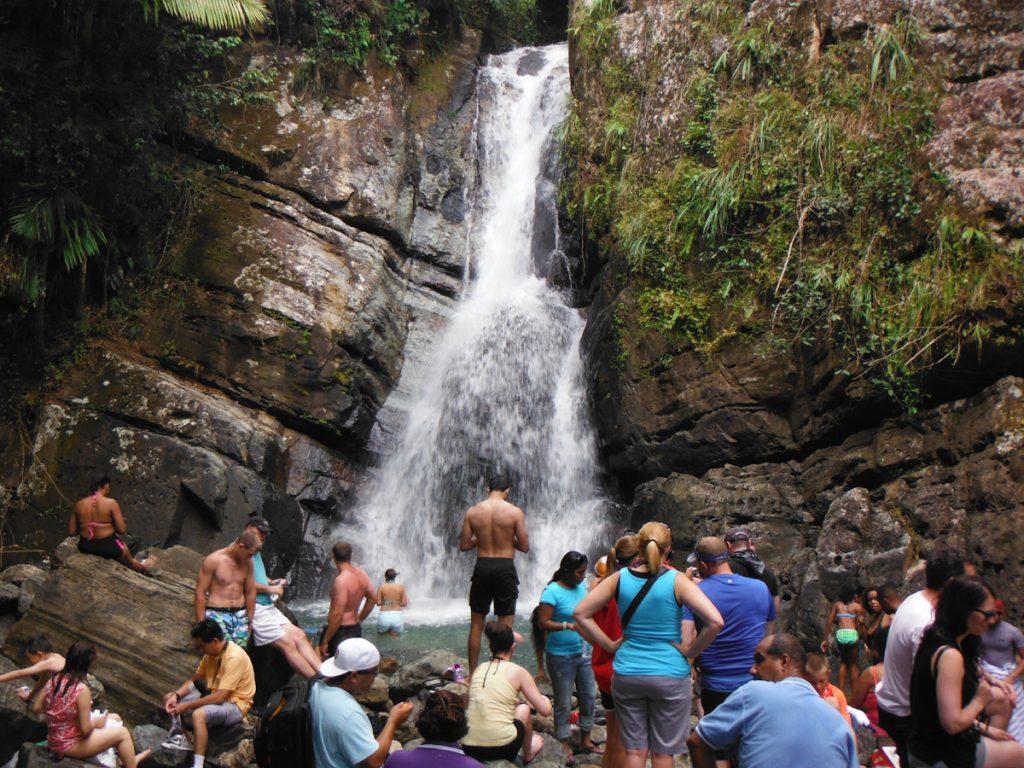 La Mina Waterfall san juan puerto rico